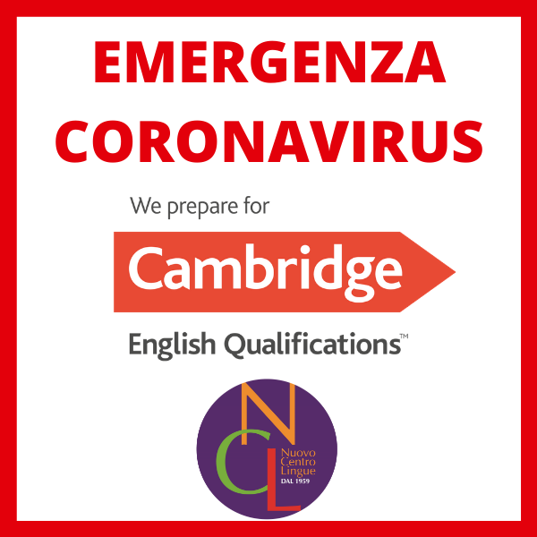 Emergenza coronavirus - Esami di Certificazione Cambridge ...